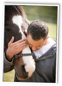 Our Heroes benefit from a strong with a horse